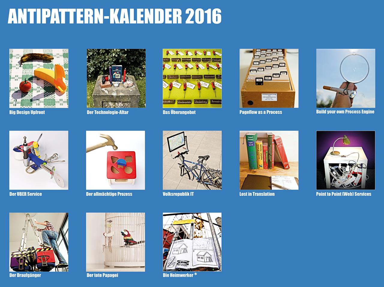 BPM/SOA Antipatterns - Der Kalender 2016