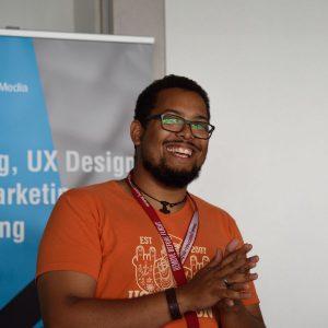 Paul Deuster auf dem Barcamp